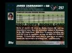 2007 Topps #297  Jared Zabransky  Back Thumbnail