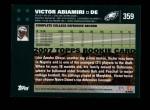 2007 Topps #359  Victor Abiamiri  Back Thumbnail
