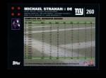 2007 Topps #260  Michael Strahan  Back Thumbnail