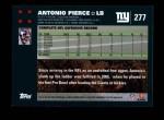 2007 Topps #277  Antonio Pierce  Back Thumbnail