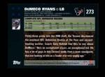 2007 Topps #273  DeMeco Ryans  Back Thumbnail