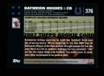 2007 Topps #376  Daymeion Hughes  Back Thumbnail