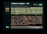 2007 Topps #339  Yamon Figurs  Back Thumbnail