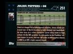 2007 Topps #251  Julius Peppers  Back Thumbnail