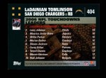 2007 Topps #404  LaDainian Tomlinson  Back Thumbnail