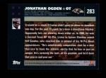 2007 Topps #283  Jonathan Ogden  Back Thumbnail