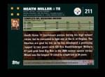 2007 Topps #211  Heath Miller  Back Thumbnail