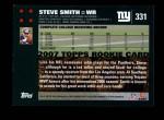 2007 Topps #331  Steve Smith  Back Thumbnail