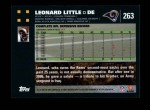 2007 Topps #263  Leonard Little  Back Thumbnail