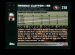 2007 Topps #318  Thomas Clayton  Back Thumbnail