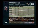 2007 Topps #268  Ray Lewis  Back Thumbnail