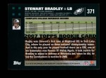 2007 Topps #371  Stewart Bradley  Back Thumbnail