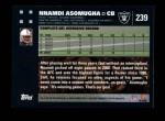 2007 Topps #239  Nnamdi Asomugha  Back Thumbnail