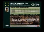 2007 Topps #349  Justin Harrell  Back Thumbnail