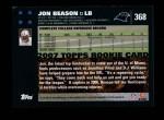 2007 Topps #368  Jon Beason  Back Thumbnail