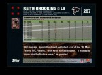 2007 Topps #267  Keith Brooking  Back Thumbnail