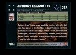 2007 Topps #218  Anthony Fasano  Back Thumbnail