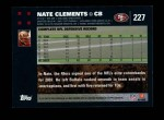 2007 Topps #227  Nate Clements  Back Thumbnail
