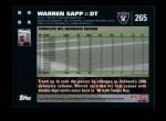 2007 Topps #265  Warren Sapp  Back Thumbnail