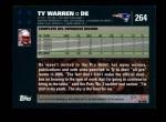 2007 Topps #264  Ty Warren  Back Thumbnail