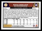 2008 Topps #28  Kyle Boller  Back Thumbnail