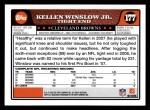 2008 Topps #177  Kellen Winslow  Back Thumbnail