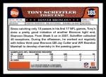 2008 Topps #185  Tony Scheffler  Back Thumbnail
