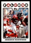 2008 Topps #67  Jerious Norwood  Front Thumbnail