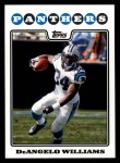 2008 Topps #88  DeAngelo Williams  Front Thumbnail
