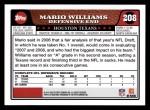 2008 Topps #208  Mario Williams  Back Thumbnail