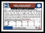 2008 Topps #125  Roy Williams  Back Thumbnail