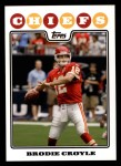 2008 Topps #15  Brodie Croyle  Front Thumbnail