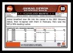 2008 Topps #89  Jamal Lewis  Back Thumbnail
