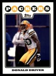 2008 Topps #132  Donald Driver  Front Thumbnail