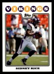 2008 Topps #150  Sidney Rice  Front Thumbnail
