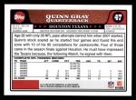 2008 Topps #47  Quinn Gray  Back Thumbnail