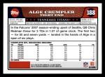 2008 Topps #188  Alge Crumpler  Back Thumbnail