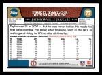 2008 Topps #77  Fred Taylor  Back Thumbnail