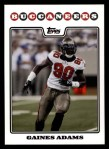 2008 Topps #206  Gaines Adams  Front Thumbnail