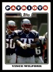 2008 Topps #201  Vince Wilfork  Front Thumbnail