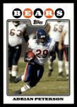 2008 Topps #99  Adrian Peterson  Front Thumbnail