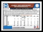 2008 Topps #53  Jake Delhomme  Back Thumbnail