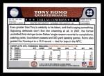 2008 Topps #22  Tony Romo  Back Thumbnail