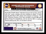 2008 Topps #65  Adrian Peterson  Back Thumbnail