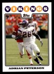 2008 Topps #65  Adrian Peterson  Front Thumbnail