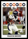 2008 Topps #75  Travis Henry  Front Thumbnail