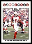 2008 Topps #143  Larry Fitzgerald  Front Thumbnail