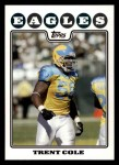 2008 Topps #210  Trent Cole  Front Thumbnail