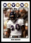 2008 Topps #266  Ed Reed  Front Thumbnail