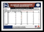 2008 Topps #265  Marvin Harrison  Back Thumbnail